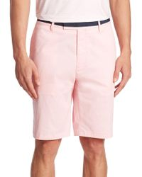 G/FORE - Contrast Waistband Shorts - Lyst