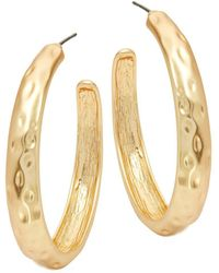 Kenneth Jay Lane - Textured Hoop Earrings - Lyst