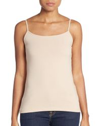 Saks Fifth Avenue Black - Basic Stretch-cotton Camisole - Lyst
