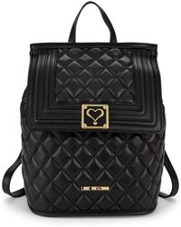 Love Moschino - Faux Leather Quilted Backpack - Lyst