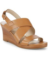Cole Haan - Penelope Wedge Heel Leather Sandals - Lyst