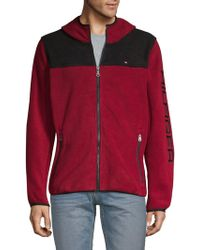 Tommy Hilfiger - Logo Hooded Zip-up Fleece - Lyst