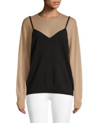 Dries Van Noten - Sheer Long-sleeve Layered Sweater - Lyst
