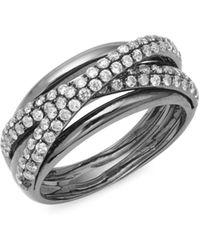 Effy - Diamond And 14k White Gold Ring, 0.9 Tcw - Lyst