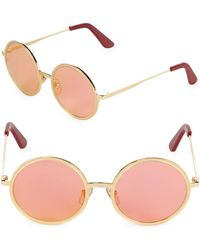 Sunday Somewhere - Tinted 52mm Round Sunglasses - Lyst