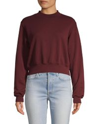 Cotton Citizen - Milan Crop Crew Shirt - Lyst