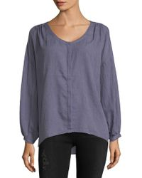 French Connection - Drape Long-sleeve Hi-lo Button-down Shirt - Lyst