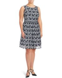 Julia Jordan - Printed Fit & Flare Dress - Lyst