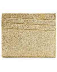 Maison Margiela - Natural Glitter Leather Card Case - Lyst