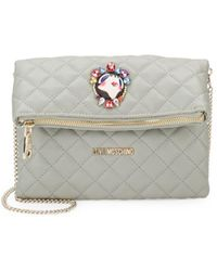 Love Moschino - Quilted Convertible Clutch - Lyst