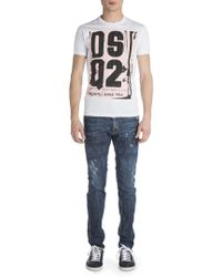 Viktor & Rolf - Cool Guy Coated Resin Distressed Jeans - Lyst