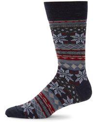 Saks Fifth Avenue Fair Isle Crew Socks