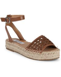 30b2b464cf89d Steve Madden - Basketweave Faux Leather Espadrilles - Lyst