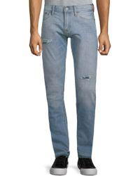 Jean Shop - Jim Distressed Cotton Jeans - Lyst