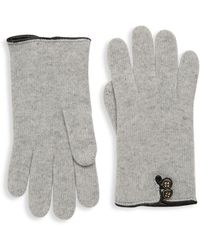 Portolano - Leather-trimmed Cashmere Gloves - Lyst