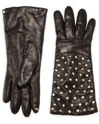 Diane von Furstenberg - Studded Leather Tech Gloves - Lyst