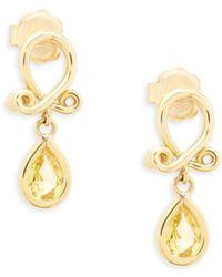 Temple St. Clair - 18k Yellow Gold Loop Earrings - Lyst