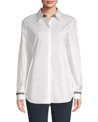 Lafayette 148 New York - Brody Long-sleeve Button-down Shirt - Lyst