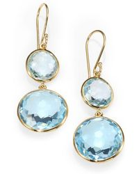 Ippolita - Lollipop Blue Topaz & 18k Yellow Gold Double-drop Earrings - Lyst