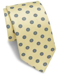 Saks Fifth Avenue - Medallion Printed Silk Tie - Lyst