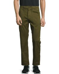 Earnest Sewn - Solid Cotton Pants - Lyst