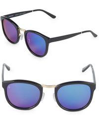 Smoke X Mirrors - 49mm Round Sunglasses - Lyst