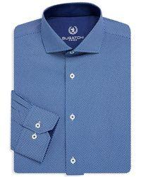 Bugatchi - Textured Cotton Dress Shirt - Lyst
