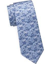 Saks Fifth Avenue - Palm Leaf Silk Tie - Lyst