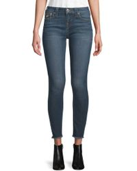 True Religion - Skinny Cropped Jeans - Lyst