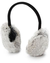 Surell - Rabbit Fur Ear Muff - Lyst