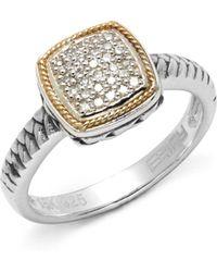 Effy - Diamond Sterling Silver & 18k Yellow Gold Ring - Lyst