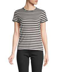 Vince - Striped Cotton Tee - Lyst