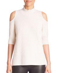 Zoe Jordan - Gondola Knit Wool & Cashmere Blend Jumper Cold Shoulder Top - Lyst