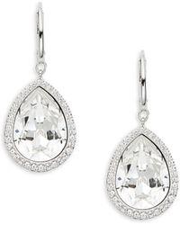 Swarovski - Teardrop Crystal Earrings - Lyst