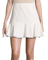 Rebecca Taylor - Textured Tweed Skirt - Lyst