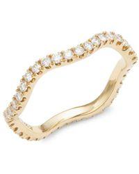 Kwiat - Wave Diamond & 18k Yellow Gold Wedding Ring - Lyst