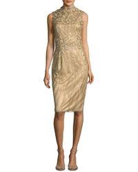 THEIA - Intricate Sheath Dress - Lyst