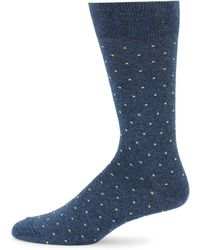 Saks Fifth Avenue - Cotton Square Dot Socks - Lyst