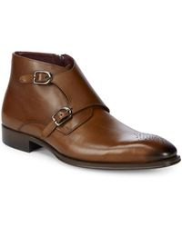 Mezlan - Leather Double Monk Strap - Lyst