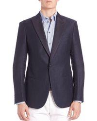 Giorgio Armani - Silk-lapel Wool & Linen Sportcoat - Lyst
