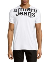 Armani Jeans | Logo Crewneck Tee | Lyst