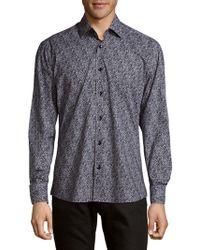 Bertigo - Cotton Static Button-down Shirt - Lyst