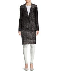 Lanvin - Shimmering Tweed Coat - Lyst