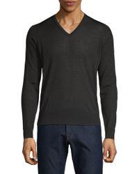 Giorgio Armani - Rib-trimmed Wool Pullover - Lyst