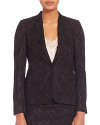 The Kooples - Jewel Buttoned Lace Jacket - Lyst