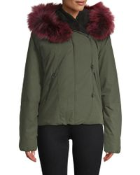 SOIA & KYO - Fox Fur-trimmed Zip-front Jacket - Lyst