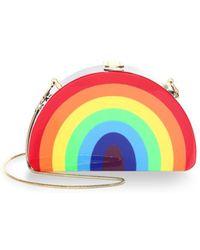 MILLY - Rainbow Half Moon Clutch - Lyst
