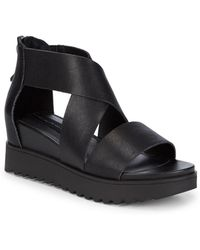 Steven by Steve Madden - Kade Leather Crisscross Sandals - Lyst