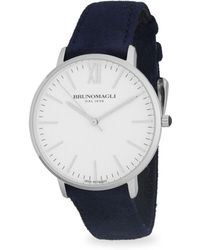 Bruno Magli - Stainless Steel Slim Leather-strap Watch - Lyst