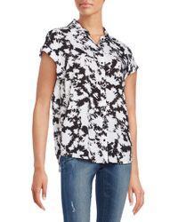 Kensie - Tie-dye Printed Short Sleeve Shirt - Lyst